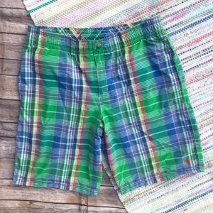 Polo by Ralph Lauren Green Plaid Swim Trunk